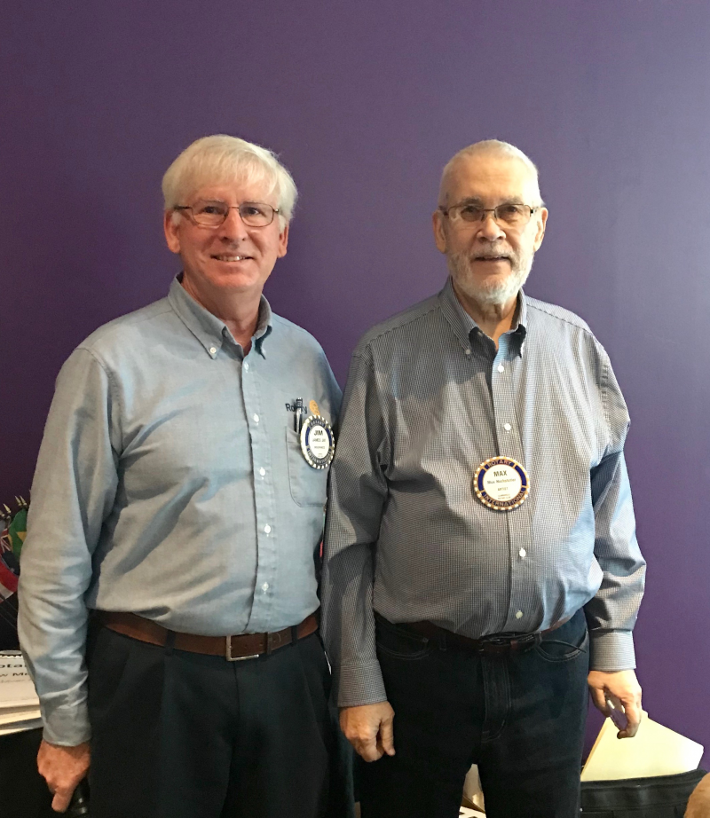 Max and Jim Jay, Rotary Club President 2018-2019
